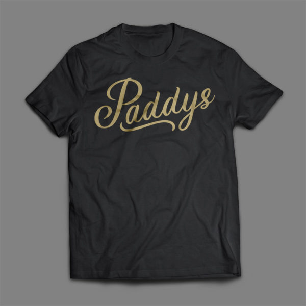 Gold on Black Paddys TShirt