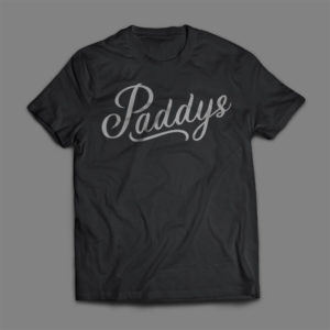 Silver on Black Paddys TShirt
