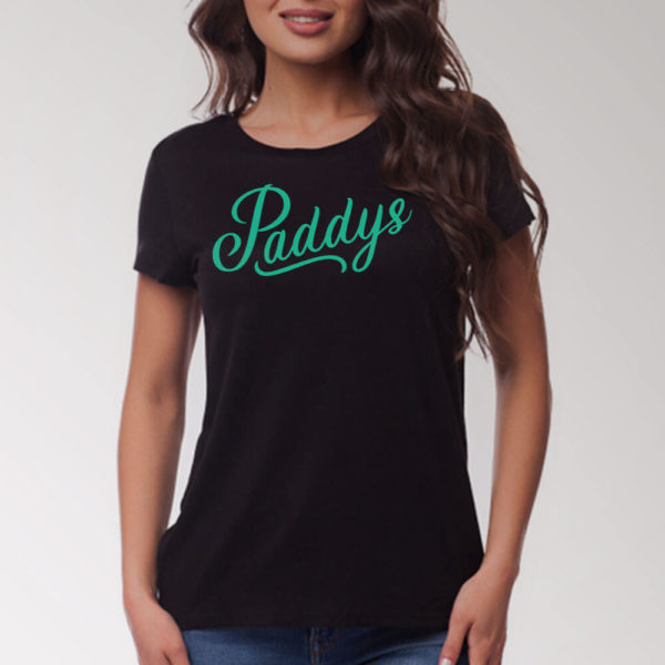 Green on Black Paddys TShirt