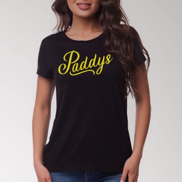 Yellow on Black Paddys TShirt