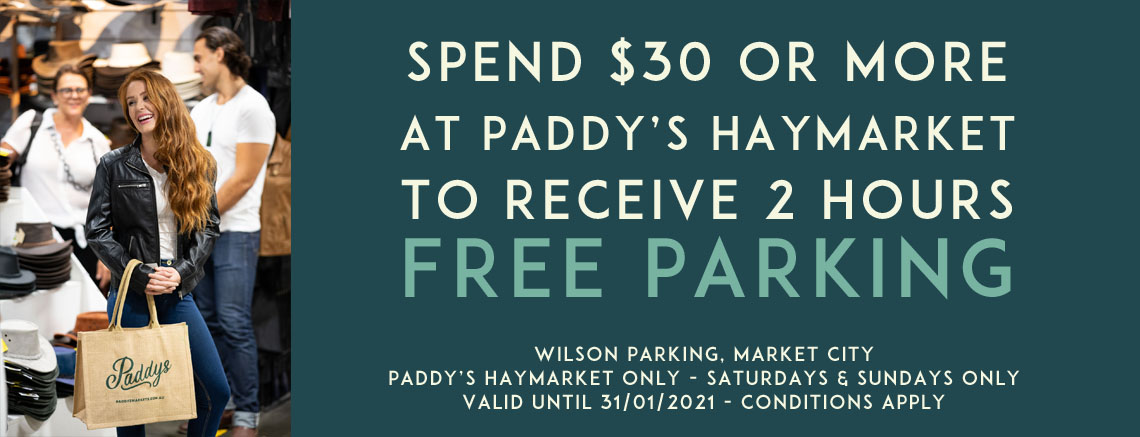 Paddys Haymarket 2-hours Free Parking Offer
